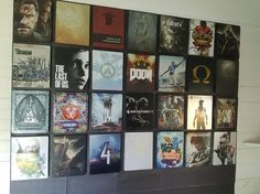 Magnet wall to display PS4 steelbook game collection!