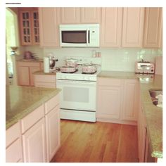 Pink kitchen. I LOVE this! So simple to do and so cozy!