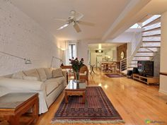 AVAILABLE NOW. Adorable and elegant century old townhouse with a lovely stone facade in the...