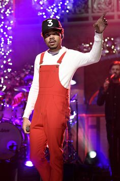 "celebsofcolor: ""Chance The Rapper performs live on Saturday Night Live """