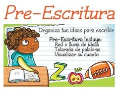 This is a set of colorful and bright bilingual writing process signs. The pdf contains 6 in Spanish and 6 in English. They are not numbered so you can change the order if you want. For example, with K-1 we often let the children use Illustrate as the first step.