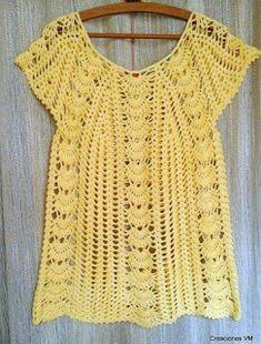 Tina's handicraft : crochet summer shirt
