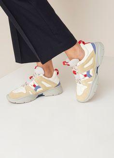 4b442ef1cb Isabel Marant Kindsay sneaker met suède details • de Bijenkorf