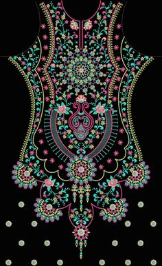 Finding Best Ideas for your Building Anything Embroidery Neck Designs, Embroidery Suits Design, Embroidery Works, Embroidery Patterns, Embroidery Blanks, Flower Embroidery, Fabric Patterns, Print Patterns, African Crafts