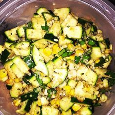 Grilled Corn & Zucchini salad ... It's what's for #lunch #buylocal #teamleeandmarias #homegrown #goodthingsgrowinontario #yumm