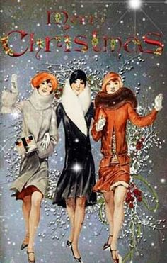 Glamour Girls Vintage Christmas Card • Paper Chaser Paper Goods • #PCPG