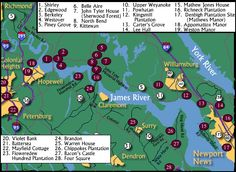 Map of James River Plantations