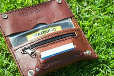 Brown Leather Tobacco Pouch with paper by DEADSKIN on Etsy Leather Tobacco Pouch, Leather Gifts, Leather Craft, Leather Wallet, Male Hands, Leather Projects, Leather Working, Hand Sewing, Brown Leather