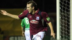 Karl Sheppard celebrates the goal that keeps Galway United in the top flight Soccer League, The Unit, Goals, Celebrities, Sports, Hs Sports, Celebs, Sport, Foreign Celebrities
