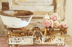 A Perfectly Rusty Scale - White Lace Cottage