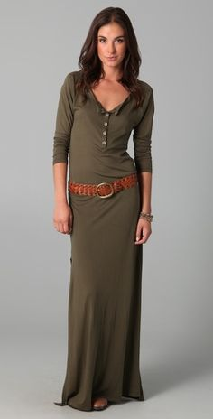 long sleeve henley dress - I'm really into the comfortable look right now... :)