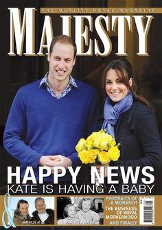 Majesty magazine - Happy News - Kate is having a baby!