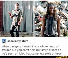 Walking Dead Funny, The Walking Dead Tv, Rick And Michonne, Rick Grimes, Ricky Dicky, The Best Series Ever, Dead Inside, Television Program, Stuff And Thangs
