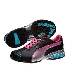 82edf7f2ccc8e7 Black   Silver Tazon 5 Junior Running Shoe by PUMA on today!