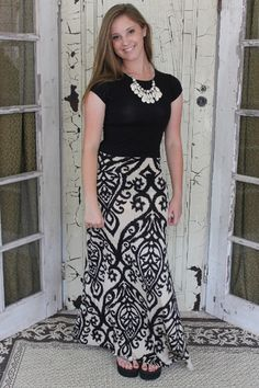 Sophisticated Sue Maxi Skirt, $32.00