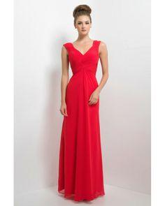 e001ea96ae0 Floor Length Chiffon Long Alexia Bridesmaid Dresses 174LOutlet Red  Bridesmaids