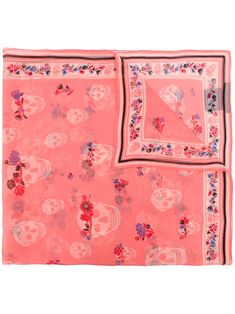 Shop designer scarves for women at Farfetch for warmth and style. Shop knitted, silky and logo scarves from Alexander McQueen, Fendi, Burberry and many more. Designer Scarves, Everyday Look, Flower Crown, Womens Scarves, Pink Purple, Floral Prints, Flowers, Alexander Mcqueen, Shopping