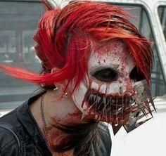 scary makeup   really scary makeup job!   Halloween Fun