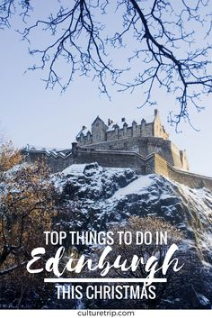 From movies to ice skating to festive dinners, here are the best things to do in Edinburgh this Christmas season. Edinburgh Winter, Stay In Edinburgh, Edinburgh Christmas, Edinburgh Scotland, Scotland Travel, Oh The Places You'll Go, Places To Travel, Places To Visit, Christmas In Scotland