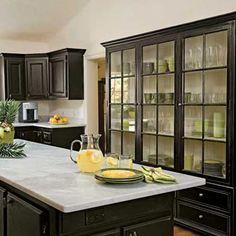 Love the black cabinet!