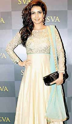 Festival Designer Cream Jacquard Nett Anarkali Dresses, Dress