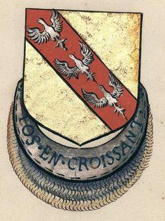 Ferry II de Loraine, Comte de Vaudemont, baron de Joinville, gouverneur du duché de Bar, grand sénéchal d'Anjou et de Provence, dernier sénateur du Croissant (1471), Armorial des chevaliers de l'ordre du Croissant.