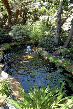 Tips for Building Ponds in Your Backyard - DIY Garten Landschaftsbau Garden Pond Design, Garden Pool, Landscape Design, Garden Water, Water Gardens, Veg Garden, Vegetable Gardening, Shade Garden, Flower Gardening