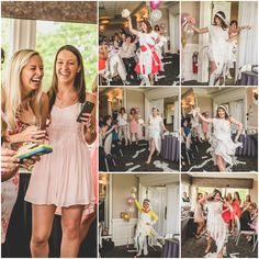Toilet+paper+wedding+dress+fashion+show.+Pink,+Gold,+and+White+Bridal+Shower.+Nicole+Klym+Photography.