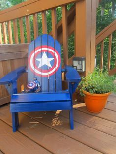 Half Finished House: DIY Captain America Chair