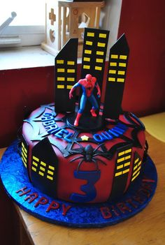 Spider-Man Birthday Cakes   Photo Gallery of the Spiderman Birthday Cakes Ideas