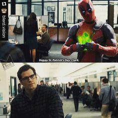 #happystpatricksday #superman #deadpool #kryptonite
