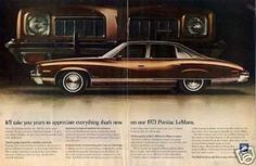 Pontiac Lemans Car Ad Centerfold (1973)