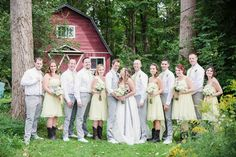 Bridal Party rockin' yellow & silver Farm Wedding, Rustic Wedding, Dream Wedding, Got Married, Getting Married, Cold Night, Special People, Bridesmaid Dresses, Wedding Dresses