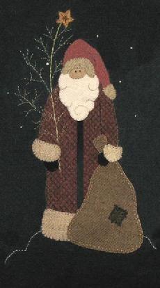 Wool Applique Santa