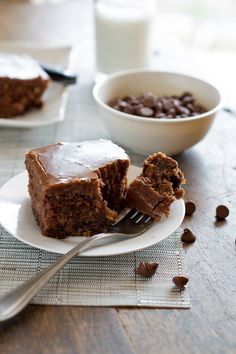 """World's Best Chocolate Oatmeal Cake"" from Pinch of Yum - I made this on the weekend and it really is soooo good, lovely and moist but not too heavy"