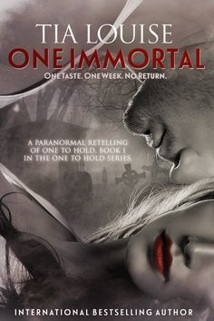 Release Blitz: Excerpt + Giveaway - One Immortal by Tia Louise Paranormal Romance, Romance Novels, Book 1, The Book, Vampire Romance Books, Books To Read, My Books, Bestselling Author, Love Story