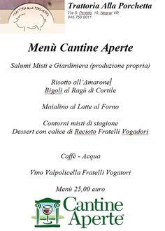 Cantine Aperte 2015, il menù alla Porchetta! :)