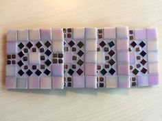 Mosaic Coasters Set of 4 4x4 Inch Square Bold and by gcbmosaics