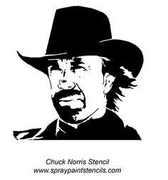 Chuck Norris Stencil