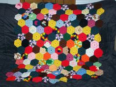 Grandpa's blanket. Grandma made the granny squares before she passed. I just attached them all together.