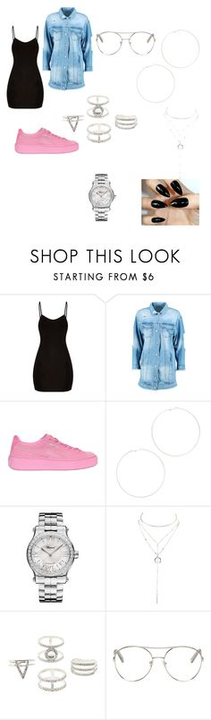 """""""women boss"""" by zoebrooks787 ❤ liked on Polyvore featuring Boohoo, Puma, Kenneth Jay Lane, Chopard, Charlotte Russe, Chloé and myBosslook"""