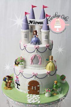 sofia the first birthday cakes | Kue Sofia The First ini untuk ulang tahun putri bungsuku yang ke 5 ...