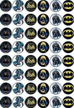 48 x 3 cm #batman edible #rice/wafer paper cupcake/fairy cake #toppers,  View more on the LINK: http://www.zeppy.io/product/gb/2/252513701178/