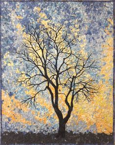 Winter Sky Original Art Quilt by Lenore Crawford by LenoreCrawford, $475.00