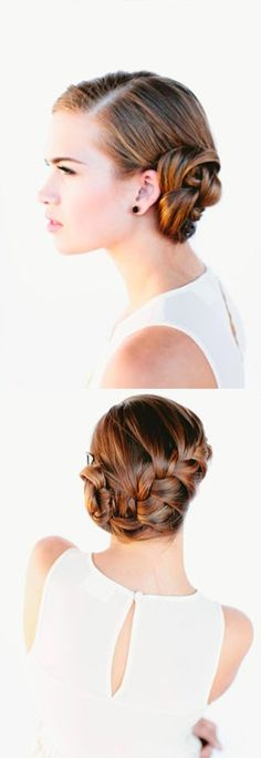 Cómo hacer un elegante trenzado en el cabello / http://allforfashiondesign.com/