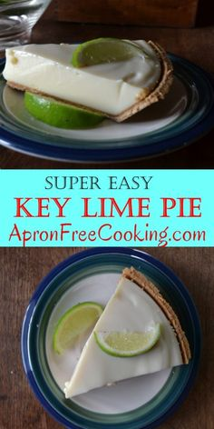 Super Easy Key Lime Pie from www.ApronFreeCooking.com
