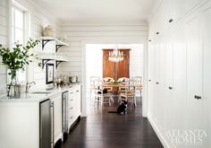 The spacious butler's pantry makes a perfect serving—and storage—galley.