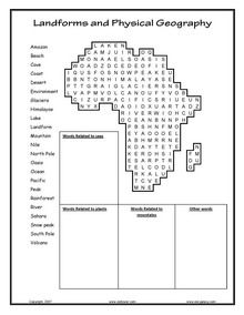 Teachers can give students one of these landform