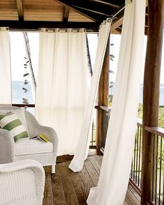 Drapes for under the deck, in an outside pergola, or outside room.