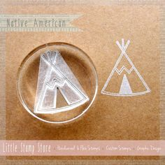 Teepee Crystal-Clear Stamp by Little Stamp Store